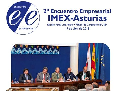 folleto 2º Encuentro Empresarial IMEX_Asturias 2018 - Portada