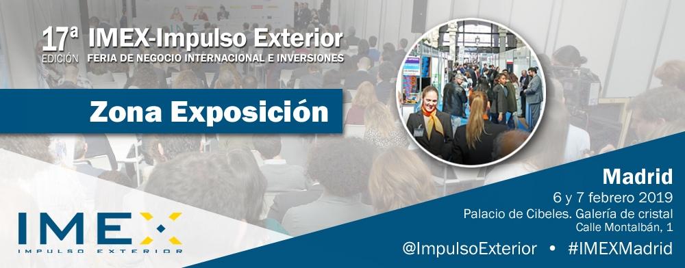 Banner zona exposición IMEX-Madrid 2019