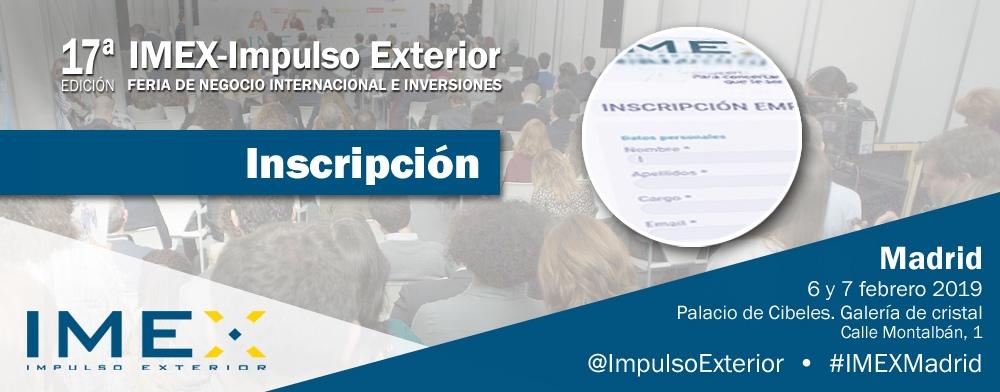 Banner inscripción IMEX-Madrid 2019