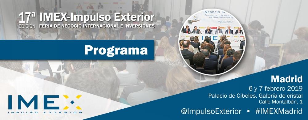 Banner programa IMEX-Madrid 2019